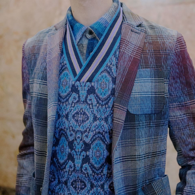 missoni wool and mohair blend vest has all the shades of blu