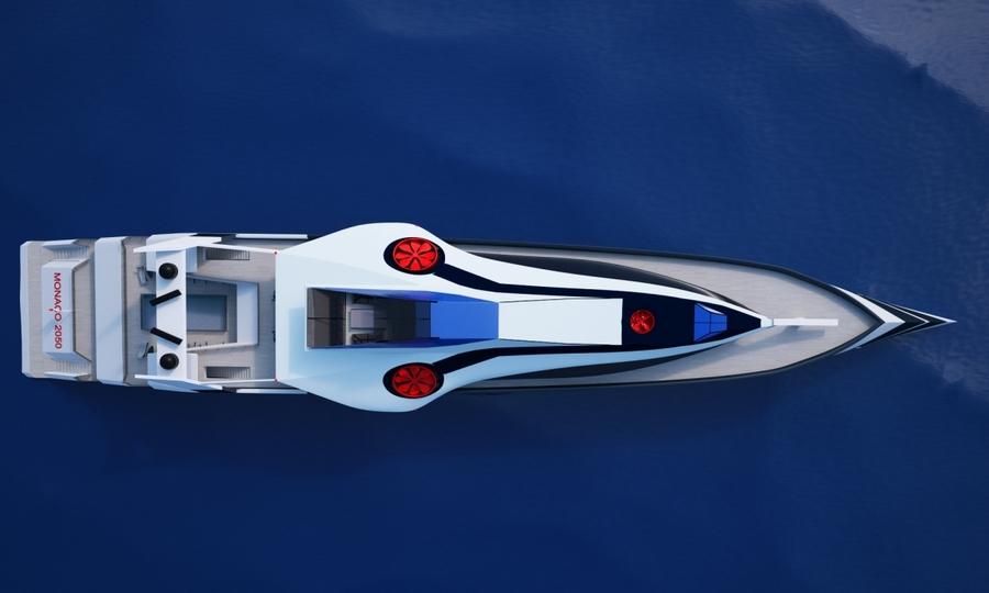 monaco 2050  Futuristic luxury cruiser with its very own private jet
