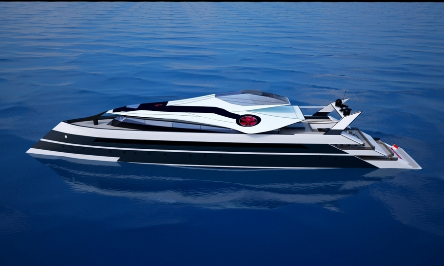 monaco 2050 superyacht - Futuristic luxury cruiser to have its very own private jet