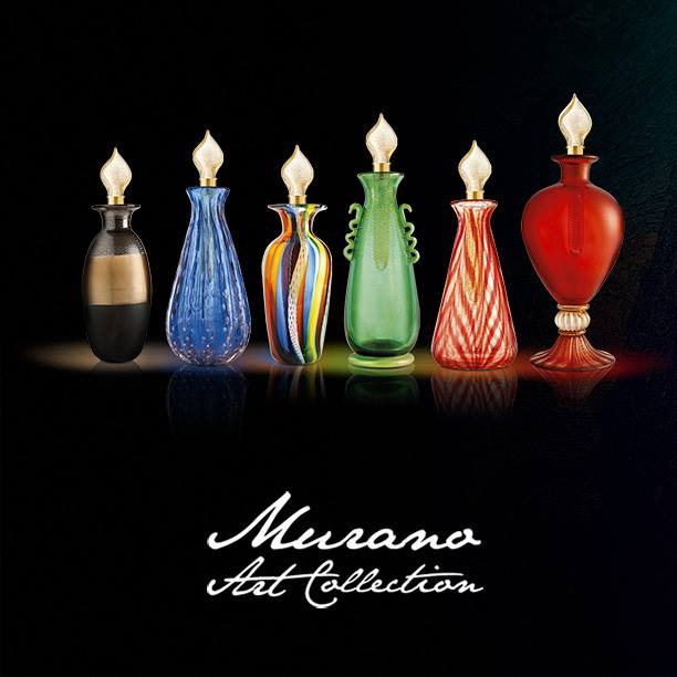 murano art collection vials