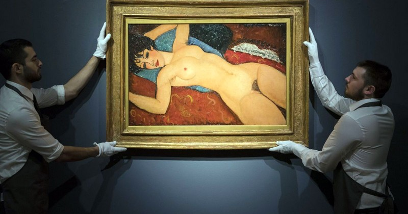nu couche modigliani at auction 2015 christies