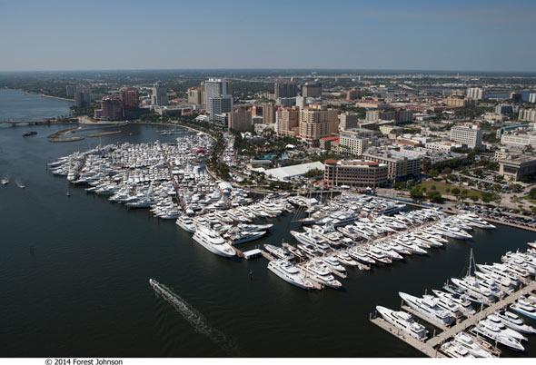 palm beach international boat show aerial view-000