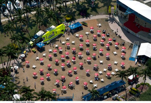 palm beach international boat show aerial view-001
