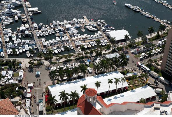 palm beach international boat show aerial view-002