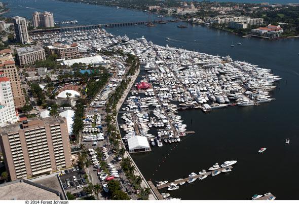 palm beach international boat show aerial view-003