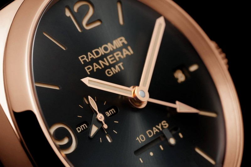 panerai novelties watches and wonders 2015- The Radiomir 1940 10 Days GMT Automatic Oro Rosso -