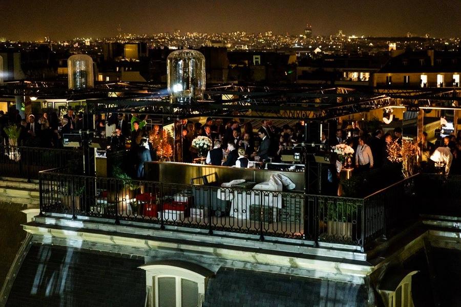 peninsula paris hotel-opening gala night-rooftop terrace Paris--