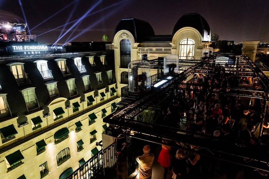peninsula paris hotel-opening gala night-rooftop terrace Paris 2015