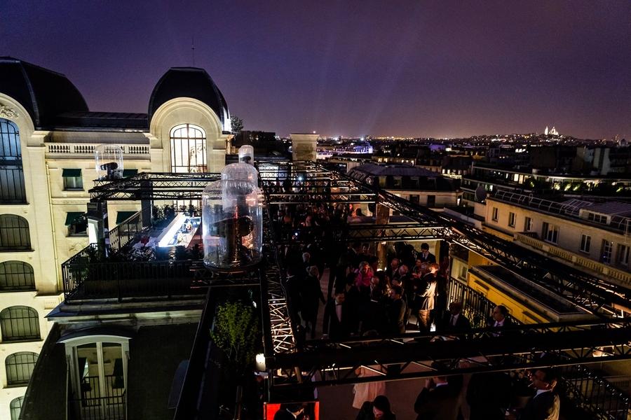 peninsula paris hotel-opening gala night-rooftop terrace Paris