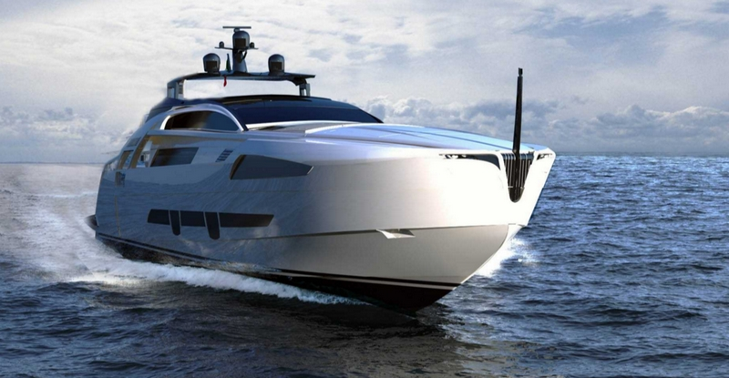 pershing 140 flagship model cruising