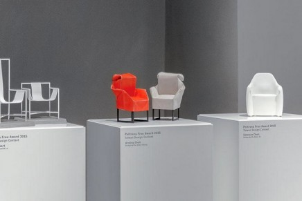 Poltrona Frau x Taiwan Design Contest. Wining chair to be presented at the 2016 Salone del Mobile