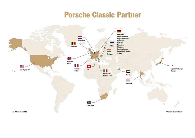 porsche classic partner map
