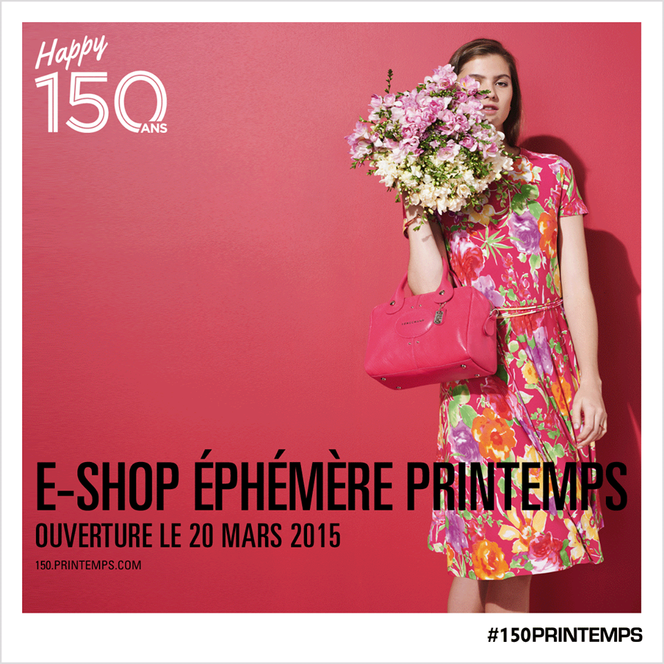 printemps paris luxury department store e-shop éphémère Printemps 2015
