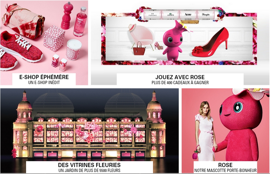 printemps paris luxury department store editions anniversaire 2015- Des Vitrines Fleuris - E-shop ephemere-