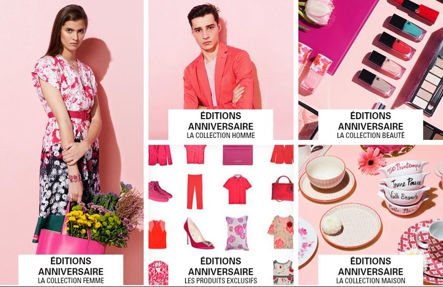 printemps paris luxury department store editions anniversaire 2015 La Collection Femme, Homme, Maison et Les Produits Exclusifs