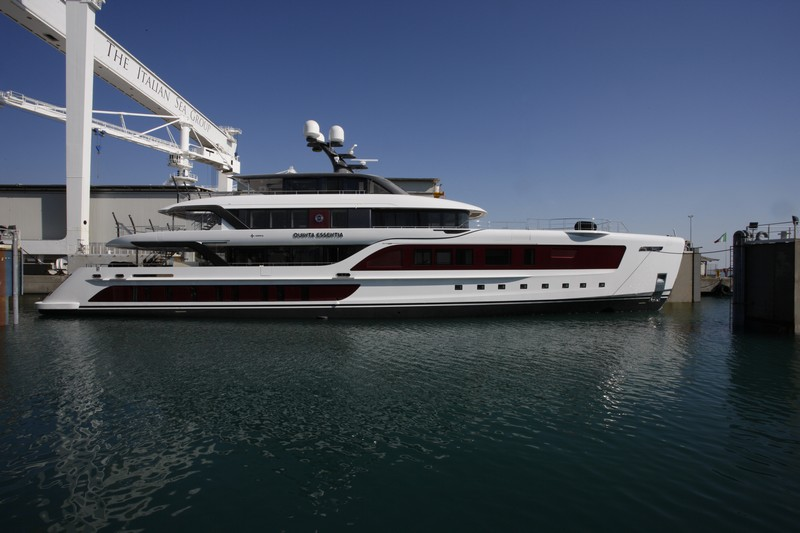quinta essentia yacht  in the shipyard The Italian Sea Group