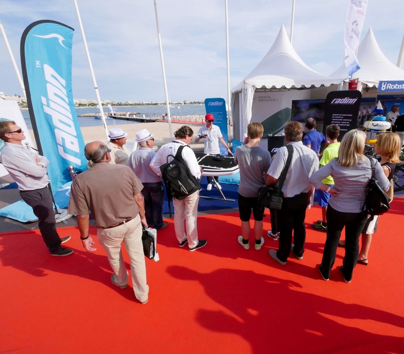 radinn Wakejet Cruise, the world's first electric wakeboard-cannes yachting festival 2015