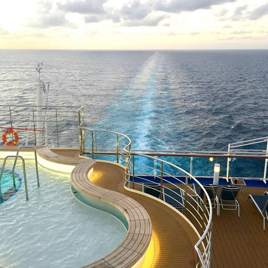 First year round international luxury vessel designed for for Best round the world cruise