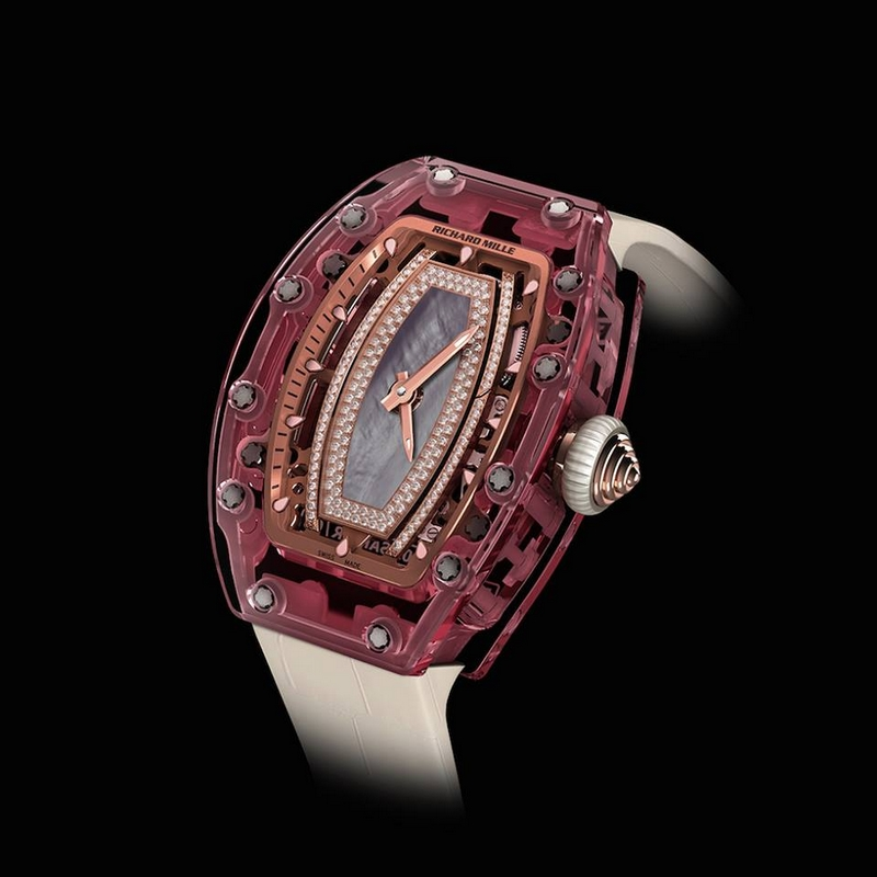 richard mille lady watches 2016 - Discover the Richard Mille RM 07-02 Pink Sapphire-