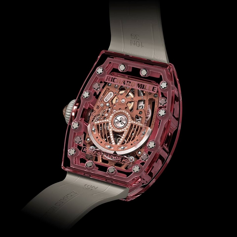 richard mille lady watches 2016 - Discover the Richard Mille RM 07-02 Pink Sapphire