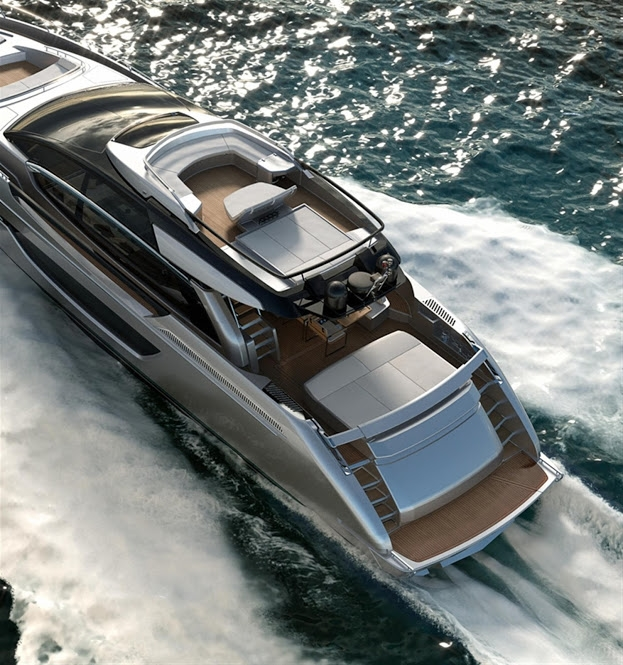 riva 76 coupe--aerial