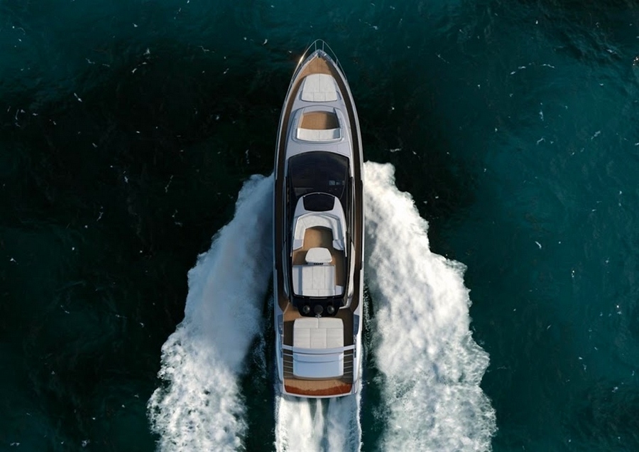 riva 76 coupe- birds view