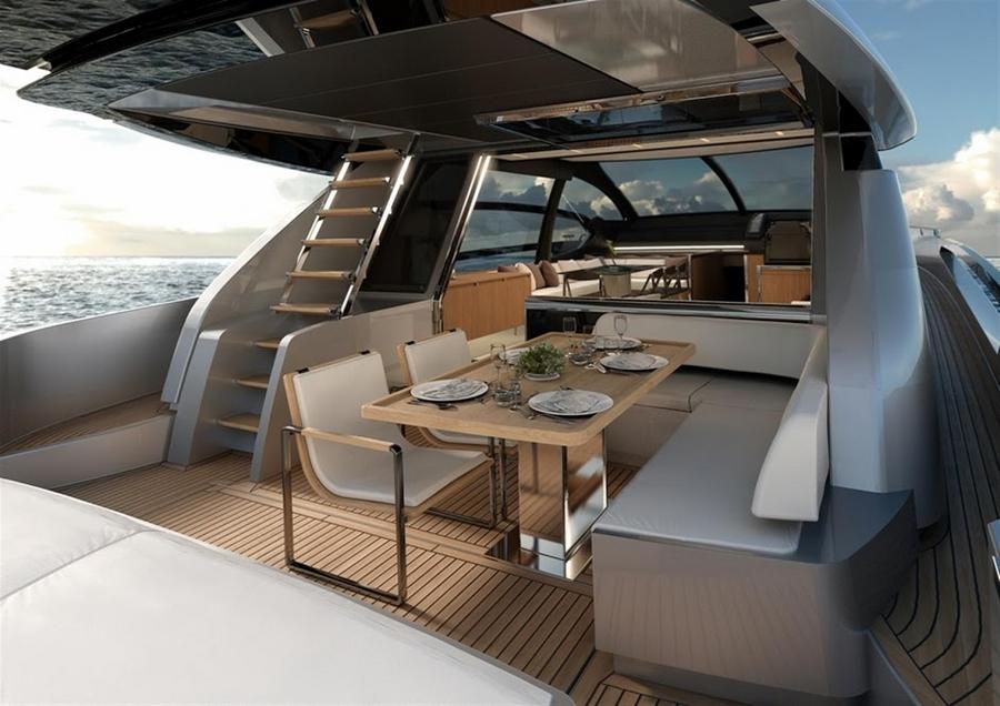 riva 76 coupe--interior