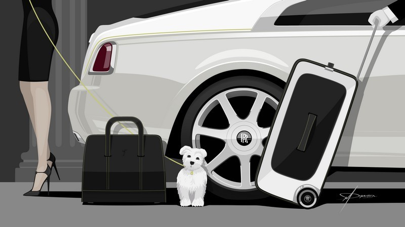 rolls-royce Rolls-Royce luggage collection wraith