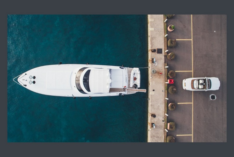 rolls-royce and yachts - aerial