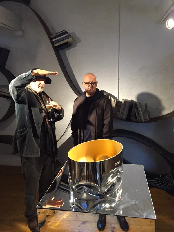 ron arad for ruinart 2015 champagne cooler - in the making