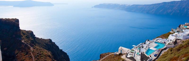 santorini greece caldera