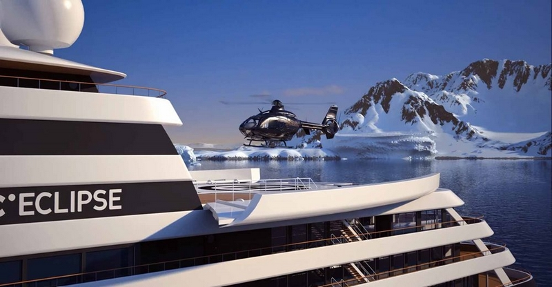 scenic eclipse ship helicopters