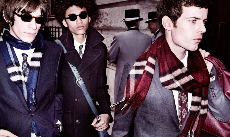 see Oscar Robertson, Jackson Hale and Harry Treadaway in Burberry men's tailoring,