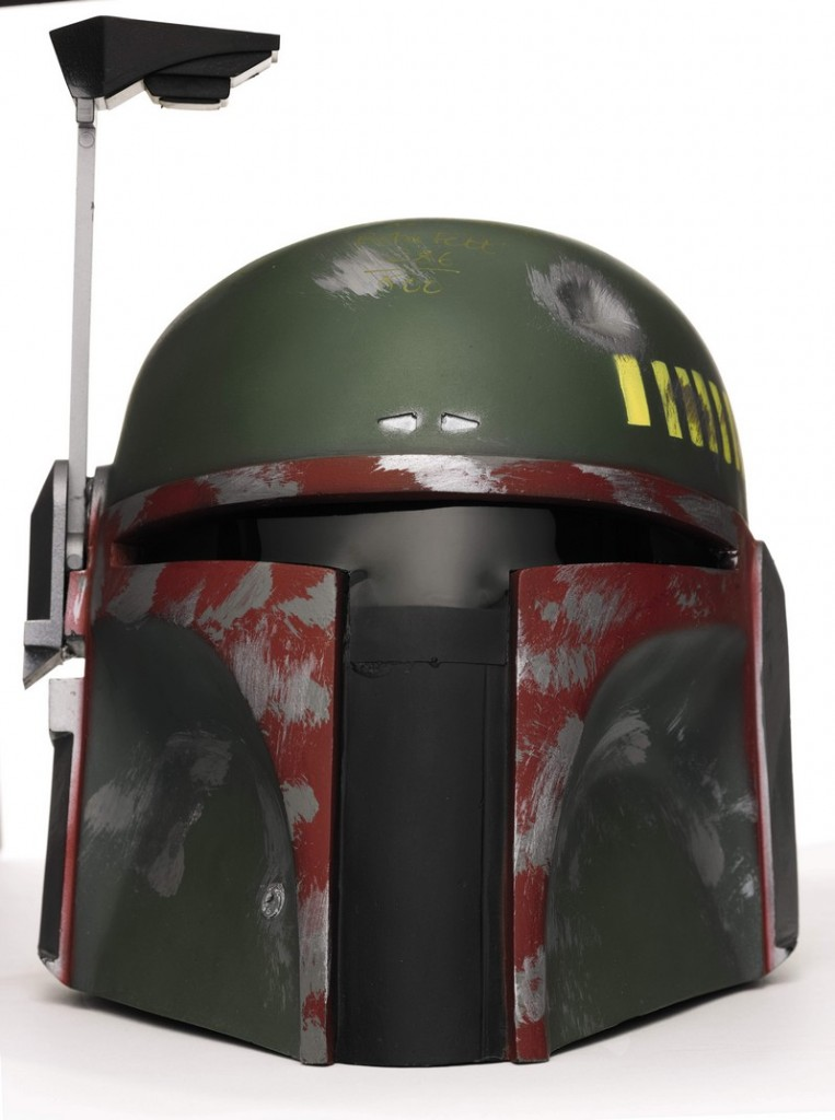 signed-star-wars-boba-fett-helmet-don-post-2000-signed-by-jeremy-bulloch-in-gold-ink-limited-edition-286-of-600-The First Auction of Star Wars Collectibles at Sothebys