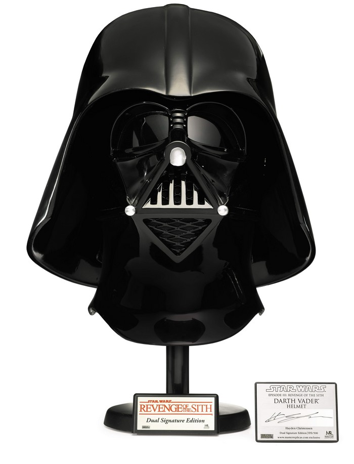 signed-star-wars-revenge-of-the-sith-darth-vader-helmet-master-replicas-2006-The First Auction of Star Wars Collectibles at Sothebys