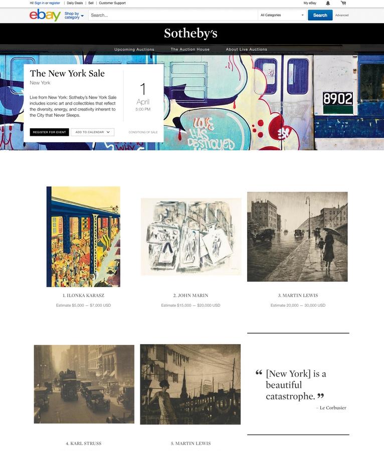 sothebys ebay live auctions 2015-