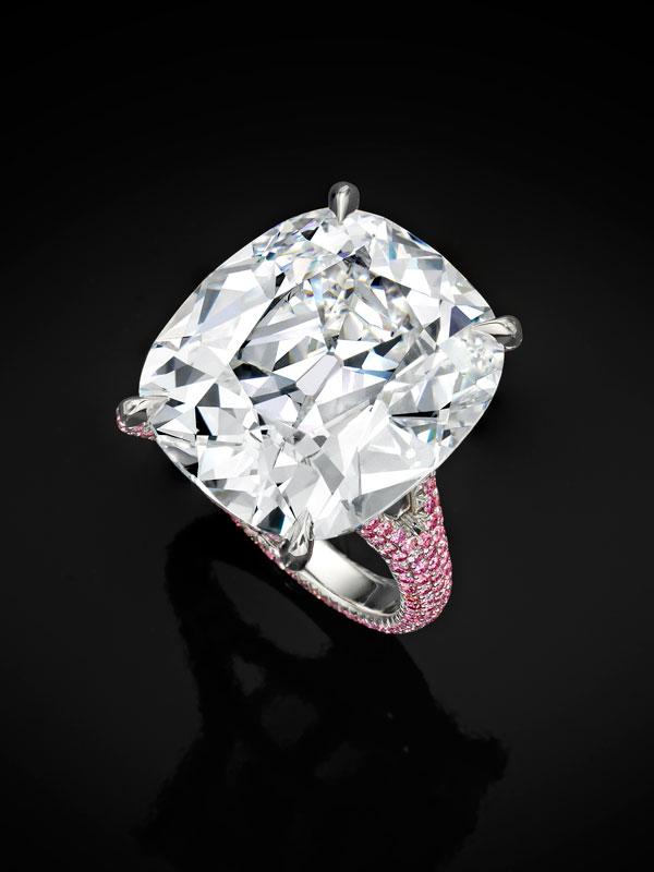 sothebysdiamonds earrings - s pink diamond basket ring