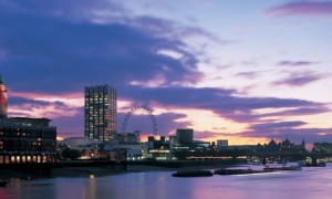 south bank london dusk