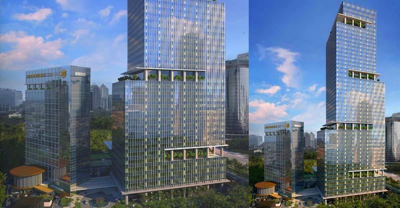 st regis jakarta plansrenderings - hotel slated to open in 2019