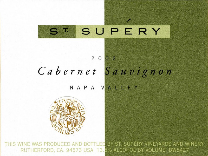 st supery wine bottle cabernet sauvignon lable