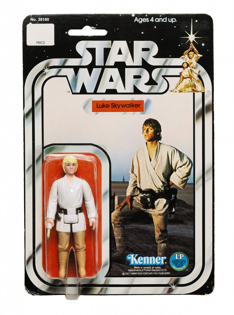 star-wars-carded-luke-skywalker-with-double-telescoping-saber-1978-The First Auction of Star Wars Collectibles at Sothebys