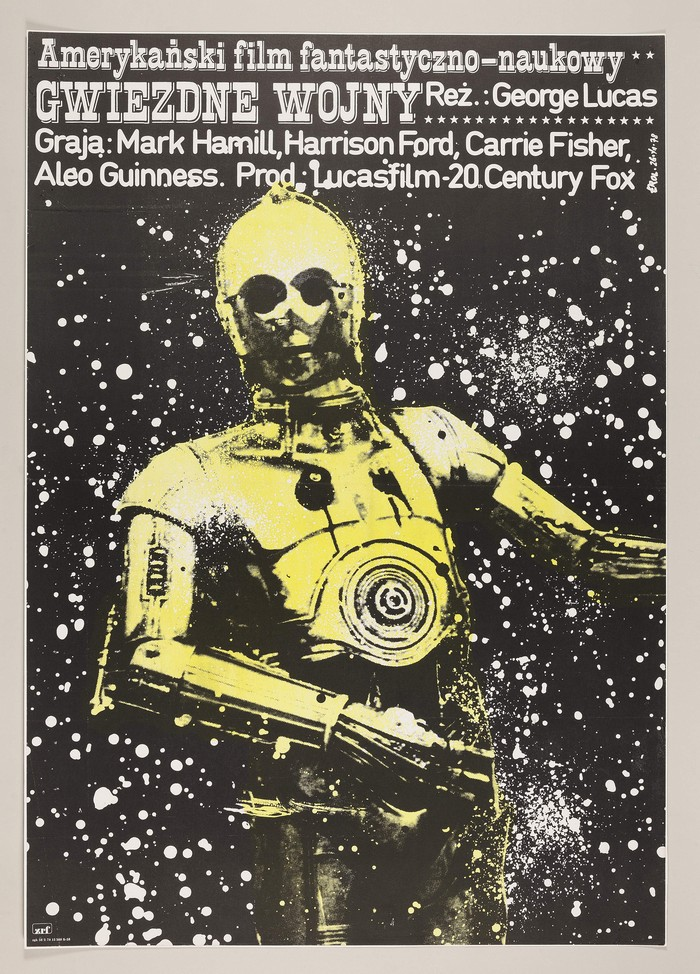 star-wars-polish-version-of-a-new-hope-poster-1978-estimate-The First Auction of Star Wars Collectibles at Sothebys