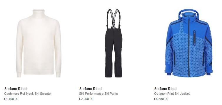 stefano ricci luxury ski menswear 2016 ski season- cashmere roll neck ski sweater-jacket-ski pants