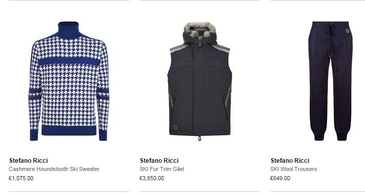 stefano ricci luxury ski menswear 2016 ski season- sweater
