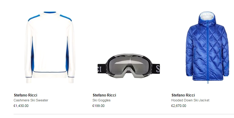 stefano ricci luxury ski menswear 2016 ski season