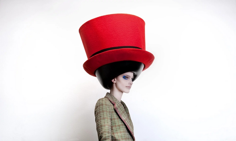 stephen jones oversized headgear