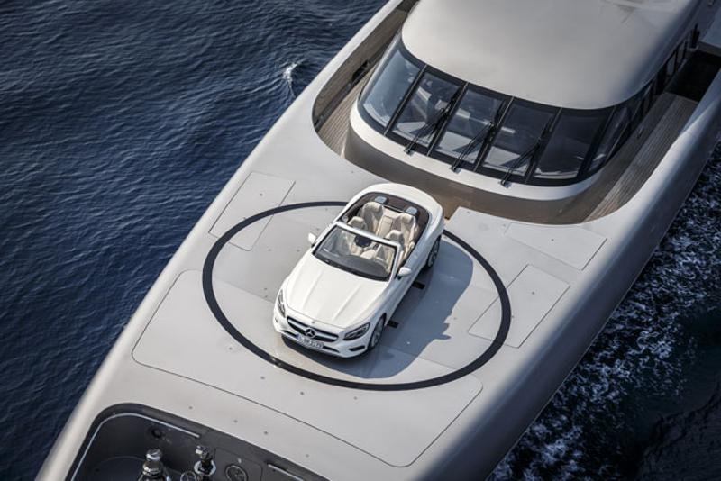 superyacht with toys