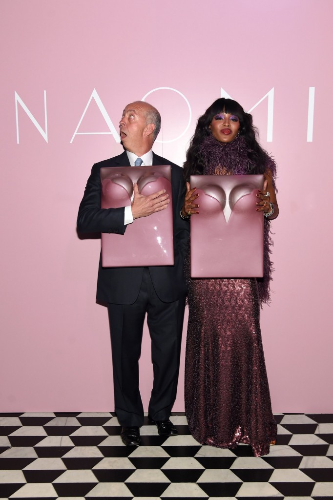 taschen naomi campbell limited edition book launch-benedikt taschen and naomi campbell-