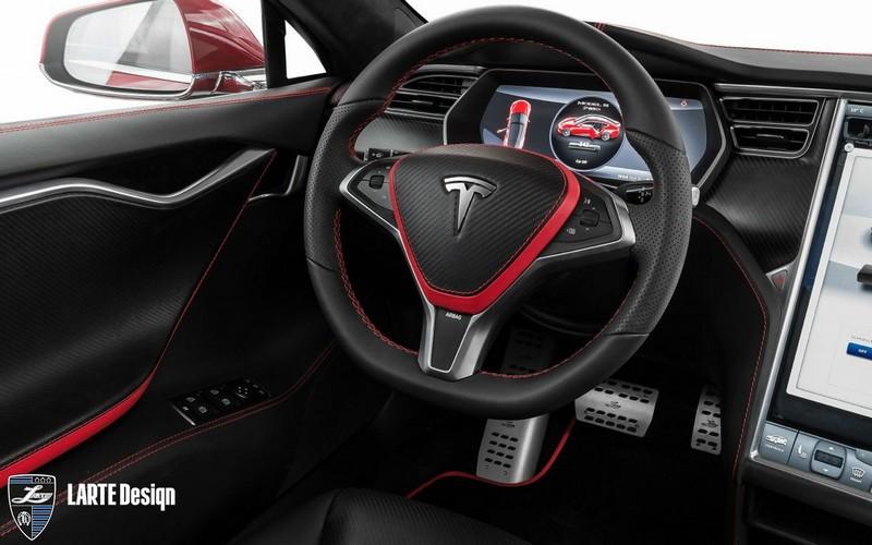 tesla model s elizabeta tuning kit by larte design 2015 interior