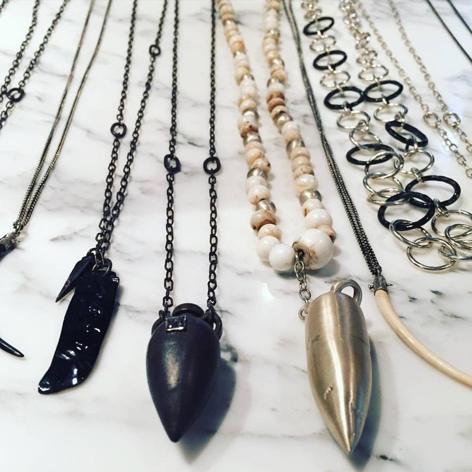 thisishenson jewelry- Antique Shell, Horn, Fossilised Mammoth and lots of Diamonds adorn our Handmade Silver offerings